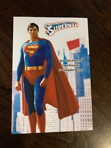 Christopher Reeve Superman Worn Cape Authentic Prop Piece Movie Relic Display