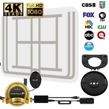 [120 MILES] Fosmon CLEAR Indoor ATSC 3.0 Digital TV HDTV Flat Antenna UHF/VHF 4K