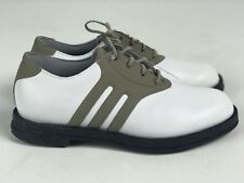 NEW ADIDAS WOMENS WHITE & BEIGE GOLF SHOES SIZE 5.5 M US