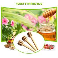 Wooden Mini Honey Stirring Rod Eco-friendly Reusable Jam Honey Dipper 24pcs #D