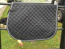 Black mini diamond quilted square English AP saddle pad