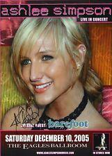 Ashlee Simpson Autographed Concert Poster