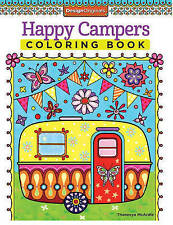 Happy Campers Coloring Book, Paperback, New