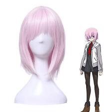 Fate/Grand Order Mash Kyrielight Demi-Servant Shield Pink Short Cosplay Full Wig
