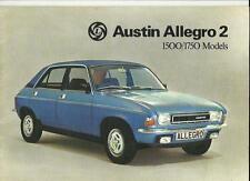 BRITISH LEYLAND AUSTIN ALLEGRO 2 1500 & 1750 SALE BROCHURE AUGUST 1976 FOR 1977