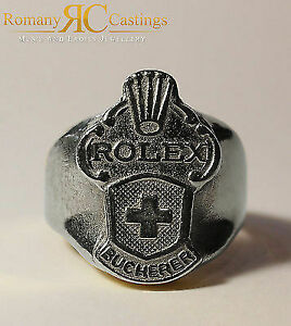 925 Sterling Silver  Rolex Spoon Ring Made from Collectors Spoons 26g Any Size