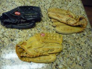 3 Ken Griffey Jr. gloves mitt lot Seattle Mariners All-Star vintage rare 1990's