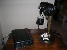 Western Electric Brass 51AL Hotel Operator Desk Candlestick Telephone