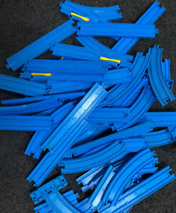 50 piece Blue TOMY train Track pack - suits Thomas & Friends - FREE POST
