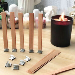 40pcs 6 Inch Candle Wicks Cotton Core Waxed With Sustainers For Candle Making