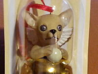 3 Pc Set CHIHUAHUA Dog Figurine Brass Bells By DNC Collection Lot Gold Ornaments