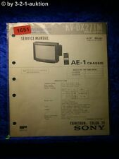Sony Service Manual KV DX27TM (#1651)
