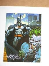 1995 BATMAN MASTER SERIES promo card Skybox Joker with gun art! DC NEW 52!