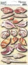 Reminisce SHELLS Beach Scrapbook Stickers