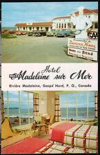 GASPE NORD QUEBEC CA Motel Madeleine Sur Mer Vtg 1950's Cars Old Hotel Postcard
