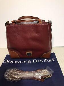 Dooney & Bourke Pebble Grain Leather Large Brenna Satchel