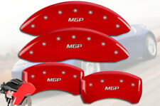 "2007-2012 Sentra Front + Rear Red Engrave ""MGP"" Brake Disc Caliper Covers 4p Set"