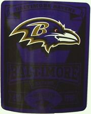 "Blanket Fleece Throw NFL Baltimore Ravens NEW 50""x60"" with protective sleeve"