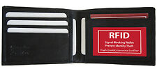 RFID Blocking Safe Security Men's Bifold Card ID Credit Leather Wallet Back