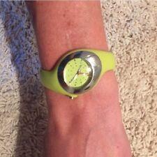 Nike waterproof neon green sports watch