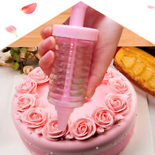 Silicone Cake Cookie Pastry Cream Chocolate Icing Decorating Syringe Plate Pen