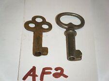 SKELETON BARREL KEYS STEAMPUNK ANTIQUE TRUNK BOX CHEST DOOR KEYS  af2