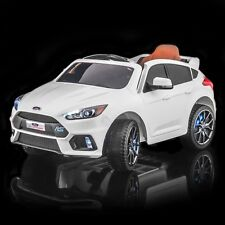 SPORTrax Licensed Ford Focus RS Kids Ride on Car, w/FREE MP3 Player - White