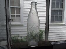 Vintage Coca Cola Bottle 10 Oz Straight Sided Embossed Diamond Logo