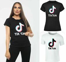 Girls T-Shirt TikTok Logo Ladies Womens Tik Tok Music Videos Note T-Shirt 8-14