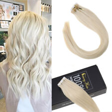 Sunny Hair Remy Tape in Hair Extensions White Blonde Real Human Hair 20pcs 40pcs