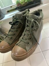 Converse All Star Canvas High Top Military Green Usa Shoes Men's Size 8.5