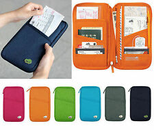 Passport ID Credit Card Holder Organizer Travel Wallet Purse Pouch Bag