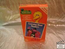 Sesame Street - Learning About Numbers (VHS) Children's television; No Act. Book