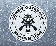 Zombie Outbreak Crossed guns printed self-adhesive sticker decal #2