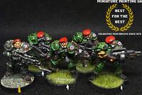 ⭐️Warzone Target Games Bauhaus Painted Black Berets SciFi Marines 28mm Wargame