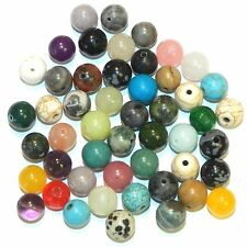 GR9912 Assorted 8mm Mixed Round Gemstone Bead Lot 38-Grams (50 Beads)