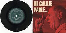 """""""DE GAULLE PARLE"""" Discours de guerre 1939-45 (EP 33tours original français) MINT"""