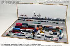 [Hakoniwagiken]Diorama paper sheet PRO-G250 1/150 Container yard A  trailer