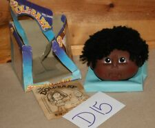 (1) Nos Vintage Doll making Doll Baby short black hair African American D15