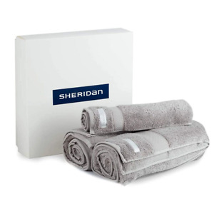 Luxury Egyptian Towel Gift Set by Sheridan Silver/Cloud