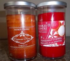 YANKEE CANDLE. Gingerbreadl  &   Peppermint Cookies  .12 oz NEW
