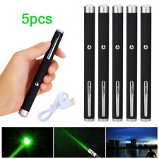 5x Green Laser Pointer Pen Professional Light Pen Beam 1mw Lazer USB Rechargable