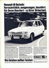 Renault 16 07 / 1971 publicite advert werbung no catalogue brochure rare