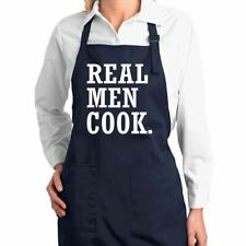 Real Men Cook Funny Classic Kitchen Cooking Apron with Pockets