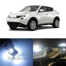8Pcs Xenon White Interior LED Light Package Deal Kit For Nissan Juke 2011-2014