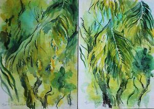 Fiona Goldbacher - Important British artist - A pair of tree studies