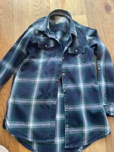 Next Girls Checked Shirt Blue & Green Long Sleeved. Age 6 Yrs