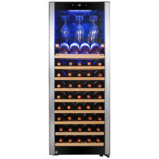 56 Bottle Touch Panel Single Zone Wire Shelves Freestanding Compressor Wine Cool