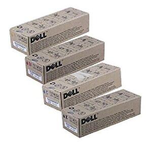 4 x Original Toner DELL 2130CN 2135CN / FM064 FM065 FM066 FM067 Cartridges Set
