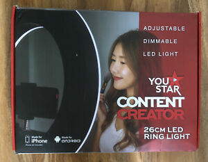 YOU STAR 26cm LED Ring Light  Adjustable Dimmable For iPhone / Android BRAND NEW